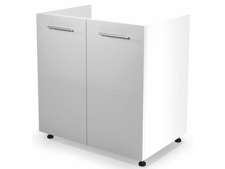 Kuchenna szafka zlewozmywakowa Limo 26X - biały połysk Pod zlewozmywak Płyta MDF Kategoria Szafki kuchenne