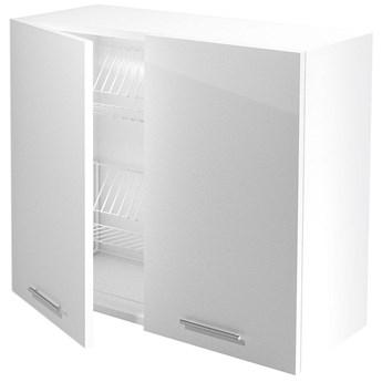 Kuchenna szafka górna z ociekaczem Limo 28X - biały połysk