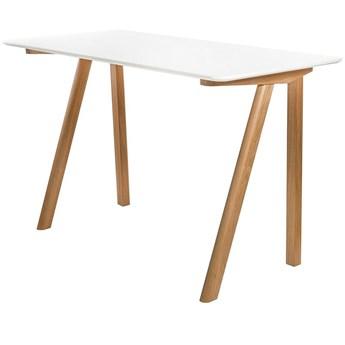 Skandynawskie biurko Bhummi - białe