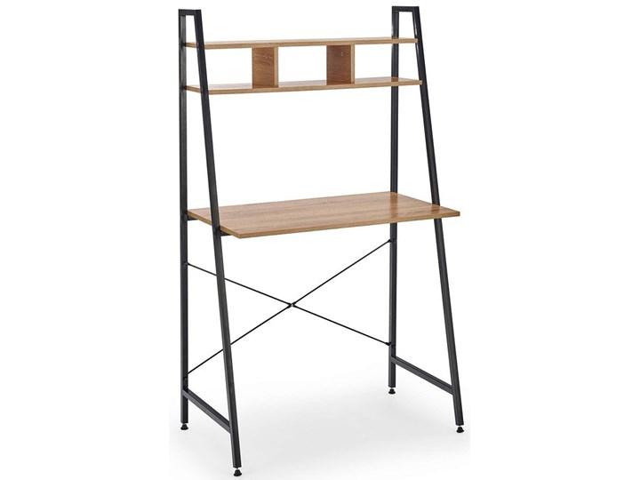 Loftowe biurko Lusso 3X - dąb sonoma Szerokość 84 cm Głębokość 46 cm Biurko drabina Kolor Brązowy