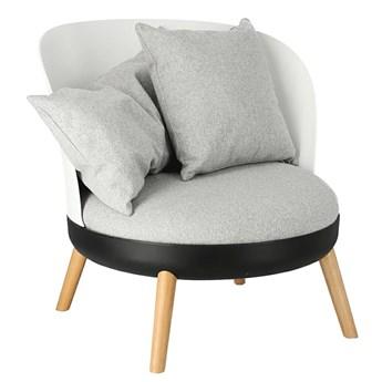 Skandynawski fotel Massi - szary