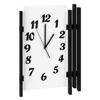 Zegar ścienny nowoczesny Tempo - biały