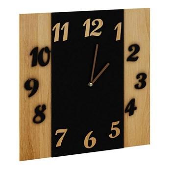 Zegar na ścianę nowoczesny Sigan - dąb