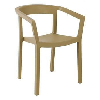 Minimalistyczne krzesło Wucu - beżowe