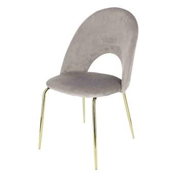 Glamour krzesło welurowe Kally - szare