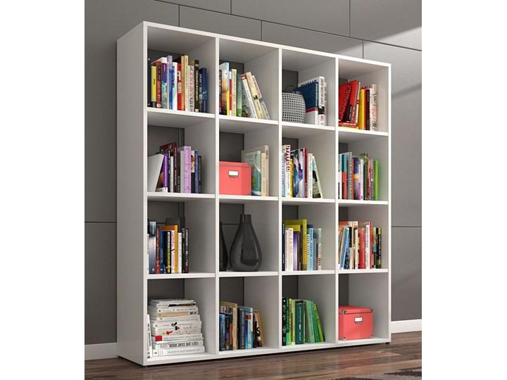 Biblioteczka regał Maleo 3X - biały Szerokość 137 cm Pomieszczenie Salon Biblioteka Wysokość 145 cm Na książki Kategoria Witryny