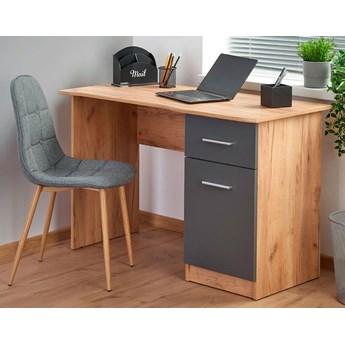 Nowoczesne biurko komputerowe Zuma - dąb wotan - antracyt