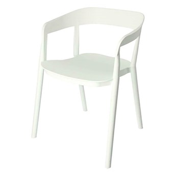 Minimalistyczne krzesło Brett - białe