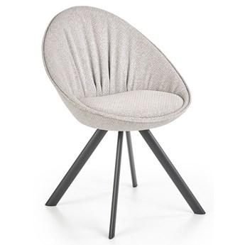 Minimalistyczne krzesło tapicerowane Jupiter - jasny popiel