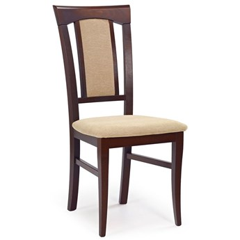 Krzesło drewniane Rumer - ciemny orzech