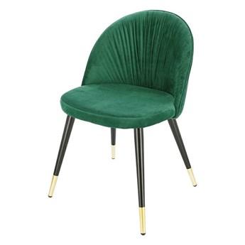 Glamour welurowe krzesło Vivvi - zielone