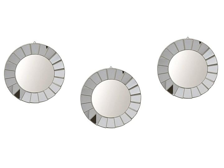 Glamour zestaw luster Leoli - okrągłe Lustro bez ramy Ścienne Pomieszczenie Przedpokój
