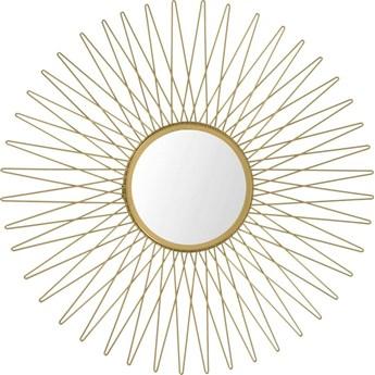 Stylowe okrągłe złote lustro glamour - Orea