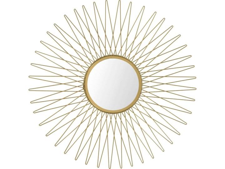 Stylowe lustro Orea - złote Ścienne Okrągłe Lustro z ramą Pomieszczenie Przedpokój Kolor Złoty