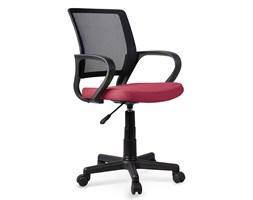 fotel obrotowy do biurka lotos - czarny + ciemny róż