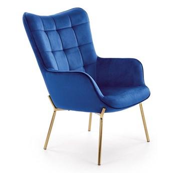 Fotel w stylu glamour Zefir 3X - granatowy