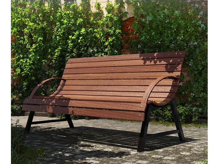 Drewniana ławka parkowa Wagris 160 cm - orzech Drewno Z oparciem Kategoria Ławki ogrodowe