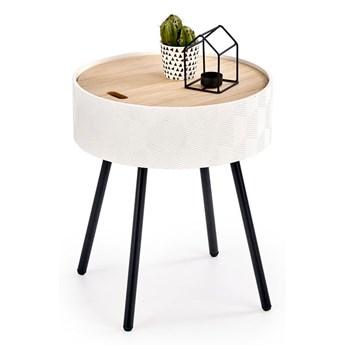 Stolik kawowy ze schowkiem Simone - Biały