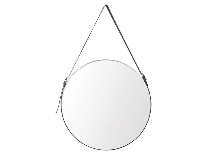 Okrągłe lustro Delina - czarne Kolor Szary Ścienne Lustro z ramą Styl Nowoczesny