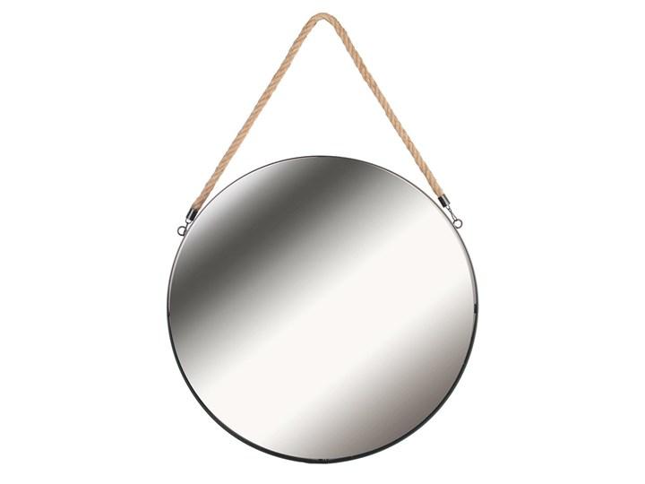 Okrągłe lustro Elmi - na sznurku Lustro z ramą Kategoria Lustra Ścienne Styl Glamour