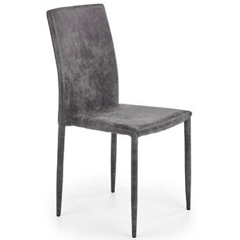 Tapicerowane krzesło Harry - ciemny popiel
