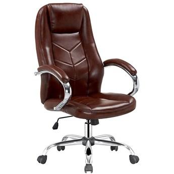 Fotel obrotowy Waldon - brązowy