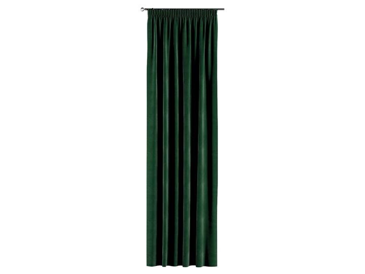 Zasłona na taśmie marszczącej 1 szt., butelkowa zieleń, 1szt 130 × 260 cm, Velvet 130x260 cm Pomieszczenie Salon Zasłona prześwitująca Poliester Kategoria Zasłony