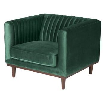 Fotel Dante Emerald Green zielony welur