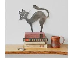 Metalowy kot na ścianę