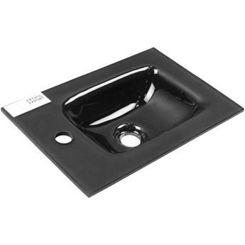 Antracytowa umywalka szklana 45 cm  FACKELMANN