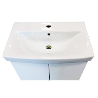 Komplet białych mebli łazienkowych