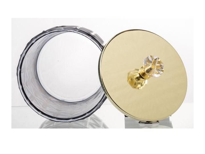 SZKLANY POJEMNIK/BOMBONIERKA GRANAT POKRYWKA ZŁOTA LUNA15x10,5x10,5CM Na produkty sypkie Szkło Metal Typ Pojemniki