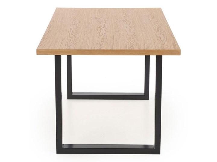 Rozkładany stół w stylu loft do jadalni Lopez 2X 140 XL - dąb Szerokość 140 cm Długość 140 cm  Drewno Styl Minimalistyczny Szerokość 85 cm Wysokość 76 cm Styl Industrialny