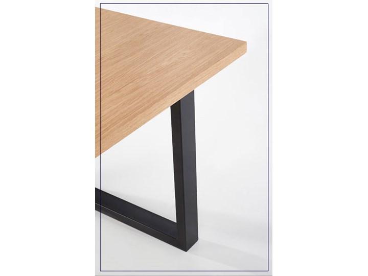Rozkładany stół w stylu loft do jadalni Lopez 2X 140 XL - dąb Długość 140 cm  Szerokość 140 cm Szerokość 85 cm Wysokość 76 cm Styl Industrialny Drewno Kolor Beżowy