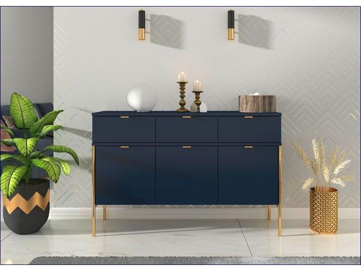 Komoda w stylu glamour Perilla 3X - Granat Pomieszczenie Sypialnia Szerokość 120 cm Z szafkami i szufladami Wysokość 78 cm Styl Nowoczesny