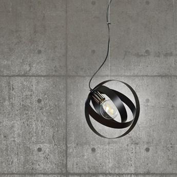 GALAXY 1 BLACK 340/1 metalowa nowoczesna lampa wisząca chromowane elementy czarna