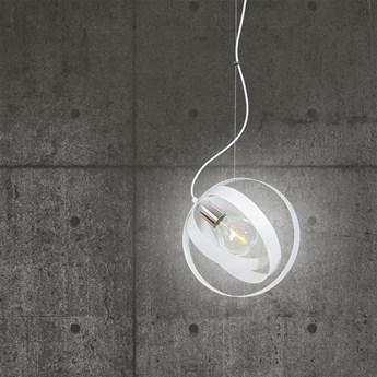 GALAXY 1 WHITE 341/1 metalowa nowoczesna lampa wisząca chromowane elementy biała