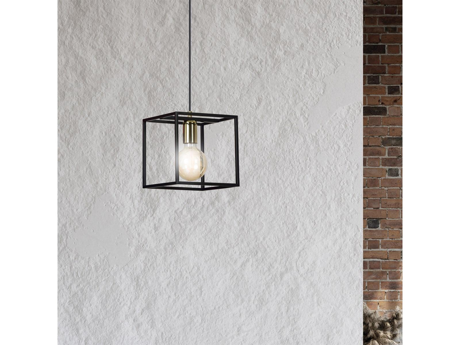 KARMEN 1 BLACK 8081 wisząca lampa sufitowa LOFT regulowana metalowa złoto czarna