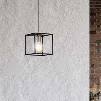 KARMEN 1 BLACK 808/1 wisząca lampa sufitowa LOFT regulowana metalowa złoto czarna