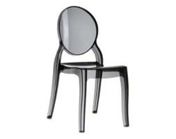 Krzesło Mia black transparentne