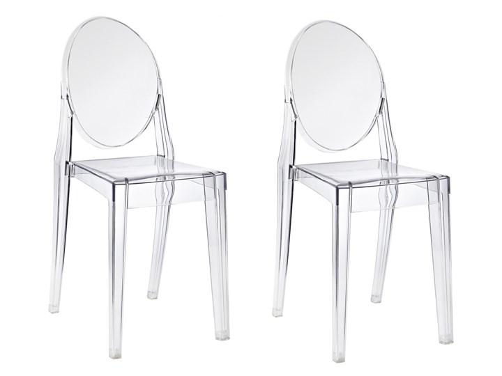 HOME DECOR ZESTAW 2 KRZESEŁ PRZEZROCZYSTE GHOST VICTORIA 111 JAKOŚĆ I Kategoria Krzesła kuchenne Tworzywo sztuczne Kolor Przezroczysty