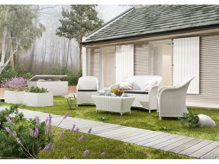 Meble ogrodowe LEONARDO royal białe Technorattan Tworzywo sztuczne Aluminium Zestawy wypoczynkowe Styl Skandynawski