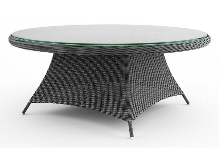 Meble ogrodowe RONDO ø180 royal szare Tworzywo sztuczne Zawartość zestawu Stół Technorattan Aluminium Zawartość zestawu Fotele