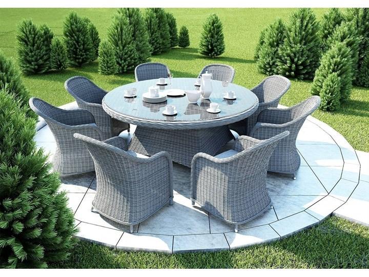 Meble ogrodowe RONDO ø180 royal szare Tworzywo sztuczne Aluminium Technorattan Zawartość zestawu Fotele