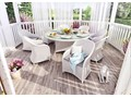 Meble ogrodowe RONDO ø180 royal białe Kategoria Zestawy mebli ogrodowych Technorattan Tworzywo sztuczne Aluminium Zawartość zestawu Fotele