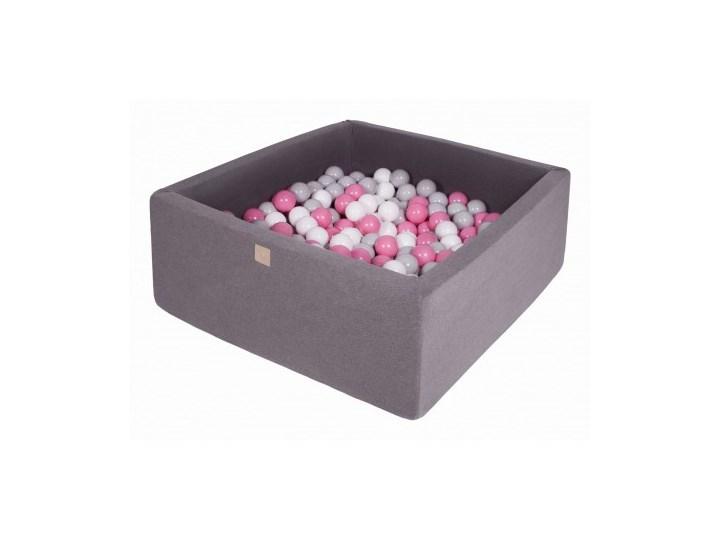 MeowBaby® Suchy Basen z Piłeczkami 200 szt Kwadratowy, Ciemnoszary