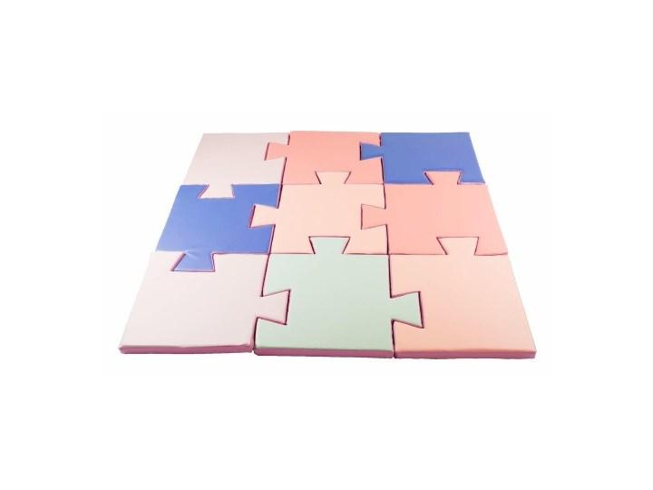 MeowBaby® Edukacyjna Mata do Zabawy z Ekoskóry Kwadratowa, Puzzle II