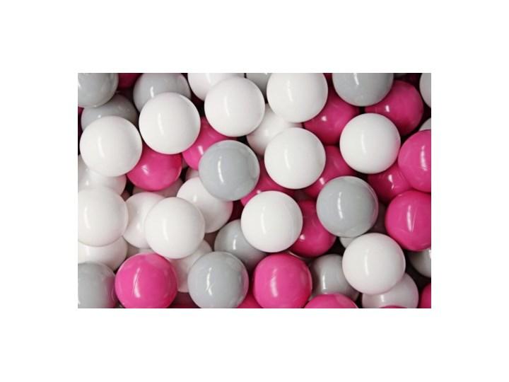 MeowBaby® 400 szt Zestaw Plastikowych Piłeczek Ø7cm szare, białe, ciemny róż