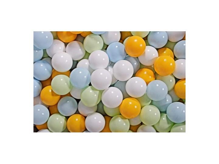 MeowBaby® Zestaw Plastikowych Piłeczek 300szt Ø7cm jasnozielone, baby blue, białe, żółte