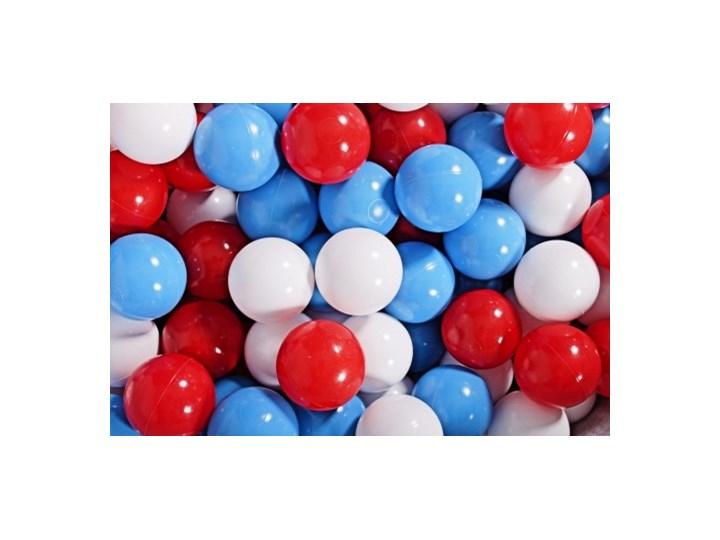 MeowBaby® Zestaw Plastikowych Piłeczek 300szt Ø7cm niebieskie, czerwone, białe